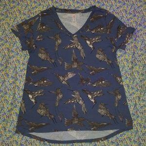 Lularoe Christy Hummingbird Vneck (Large)